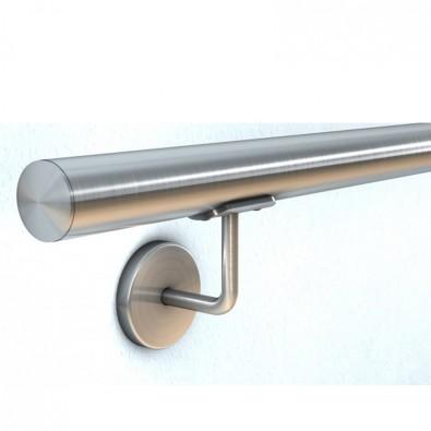 Main courante escalier intérieur ou exterieur en inox en kit