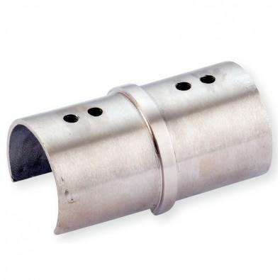 Manchon pour main courante à gorge de ø 42,4 x 1,5 mm inox 316 brossé