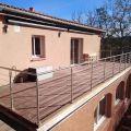 Garde corps à câbles en inox en kit à la française : terrasse, balcon, mezzanine 55