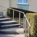 Poteau rond pour rampe escalier inox à sceller dans le béton longueur 1250 mm 2