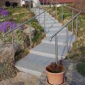 Poteau rond pour rampe escalier inox à sceller dans le béton longueur 1250 mm 6