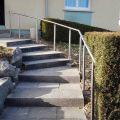Poteau rond pour rampe escalier inox à sceller dans le béton longueur 1250 mm 5