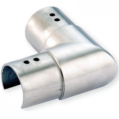 Coude à 90 horizontal de tube à gorge rond ø 42,4mm en inox 316 brossé