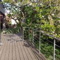 Garde corps inox en kit 5 BARRES à la française : rampe escalier, terrasse, balcon, mezzanine 35