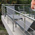 Garde corps inox en kit 5 BARRES à la française : rampe escalier, terrasse, balcon, mezzanine 1