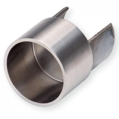 Raccord femelle tube à gorge à tube standard ø 42,4 mm inox 316 brossé