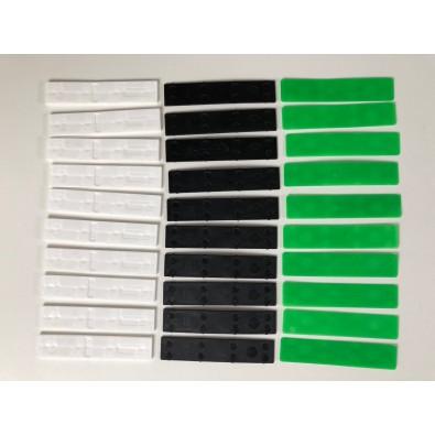 Lot de 30 cales PVC de 1, 2 et 3 mm aplomb et équerre des poteaux sur support irrégulier