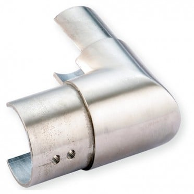 Coude à 90 vertical de tube à gorge rond ø 42,4 mm en inox 316 brossé