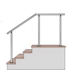 4ft//121.9cm, Noir VEVOR Kit Main Courante Balustrade Garde Corps Terrasse Rampe Escalier Rampe dEscalier Ext/érieur en Aluminium//Fer Main Courante Construction Solide Paquet de Valeur pour Escalier