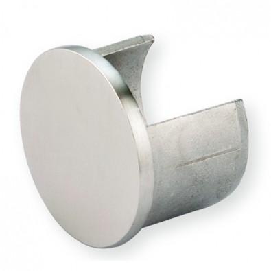 Terminaison de main courante à gorge de ø48,3 mm inox 316 poli miroir