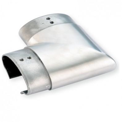 Coude à 90 horizontal de tube à gorge ovale 80 x 40 mm inox 316 brossé