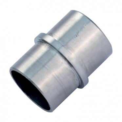 Raccord droit de main courante inox 304 brossé 42,4 mm
