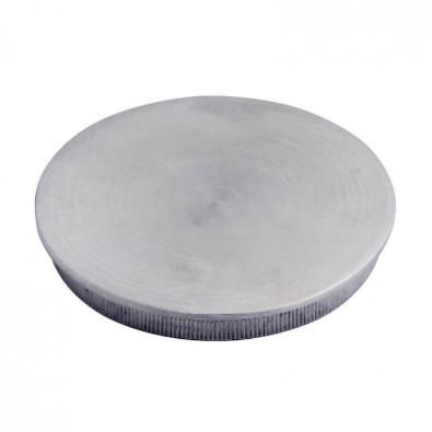 Bouchon pas cher massif plat diam 33,7 mm en inox 304 brossé à frapper