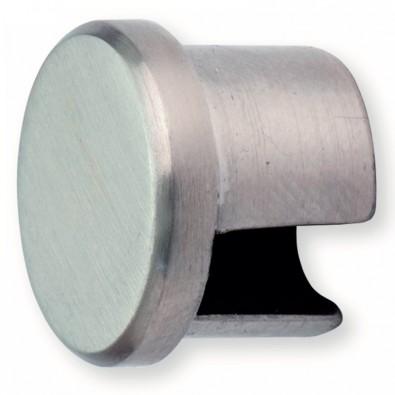 Terminaison de tube rond d'encadrement de tôles en inox 304 brossé