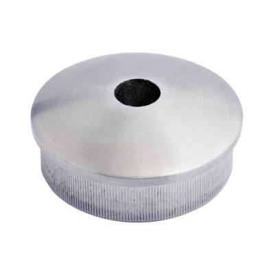 Bouchon massif  percé bombé de tube rond inox 33,7 mm inox 304 brossé