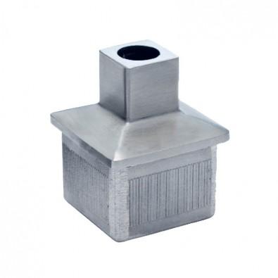 Bouchon support de main courante pour tube 40x40 mm en inox 304 brossé