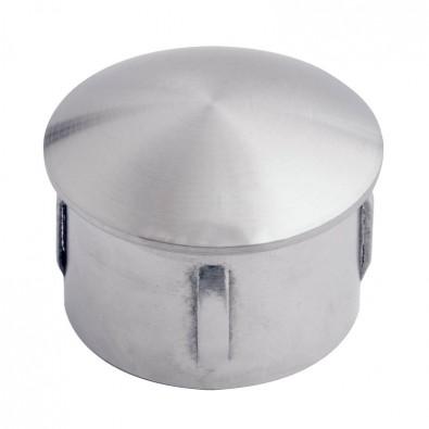 Bouchon bombé pour tube inox rond 16 mm ép 1 à 2 mm, inox 316 brossé