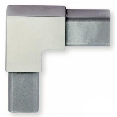 Coude pour tube carré d'encadrement de tôles en inox 304 brossé