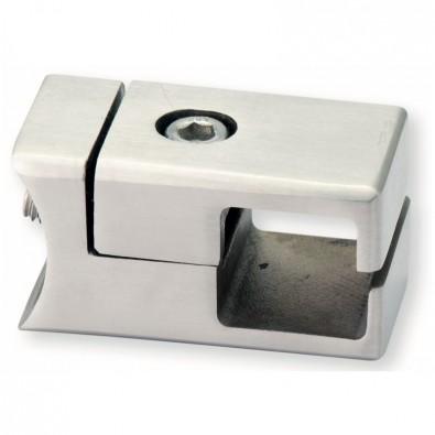 Pince à cadre carré à fixer sur tube rond ø 42,4 mm en inox 304 brossé