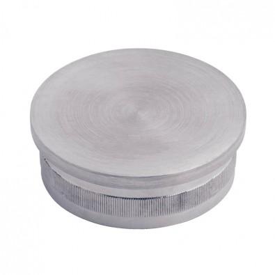 Bouchon plat pour tube rond diam 33,7 mm en inox 316 brossé à frapper