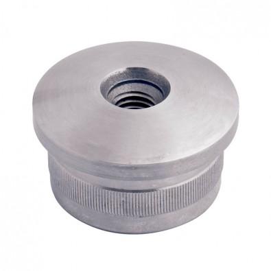 Bouchon fileté bombé pour tube rond inox 33,7 mm inox 316 brossé