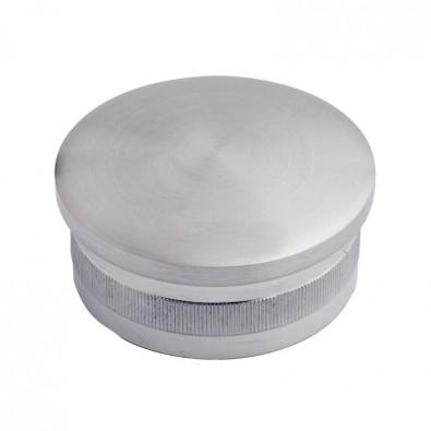 Bouchon massif et bombé diamètre 42,4 mm en inox 304 brossé à frapper