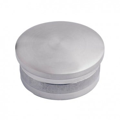 Bouchon massif et bombé diamètre 48,3 mm en inox 304 brossé à frapper
