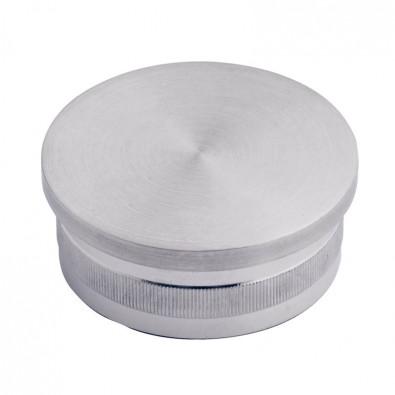 Bouchon pas cher massif plat diam 42,4 mm en inox 316 brossé à frapper