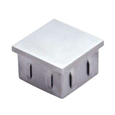 Bouchon plat pour tube inox carré 50 x 50 mm en inox 304 brossé