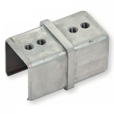 Manchon pour main courante à gorge carré 40 x 40 mm en inox 316 brossé