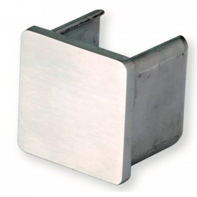 Terminaison de main courante à gorge carrée 40 x 40 mm inox 316 brossé