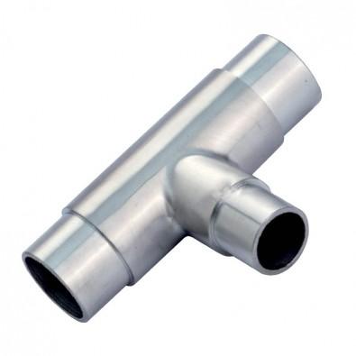 Raccord en Té avec réduction en inox 316 diamètre 42,4/33,7 mm