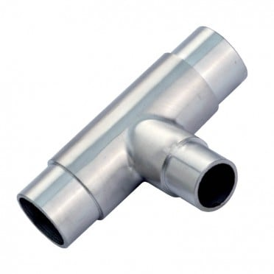 Raccord en Té avec réduction en inox 316 diamètre 48,3/42,4 mm