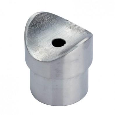 Adaptateur tube sur tube en inox 316 brossé diamètre 42,4 mm, à coller
