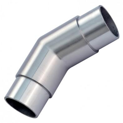 Coude à 45° mâle-mâle en inox 316 brossé 42,4 mm