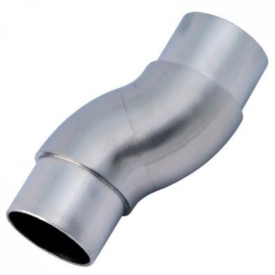 Coude orientable flexible en inox 316 brossé diamètre 48,3 mm