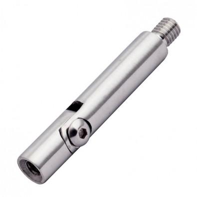 Tige articulée 110 mm ø 12 mm filetée M8 taraudée M6 inox 304 brossé.