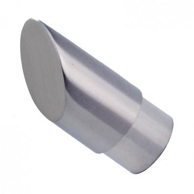 Crosse de finition de main courante a pan coupé inox 316 brossé 42,4 mm
