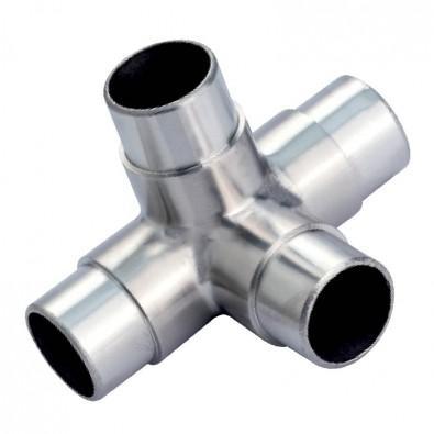 Raccord en t 4 d parts en inox 316 diametre 60 3 mm - Tube inox diametre 60 ...