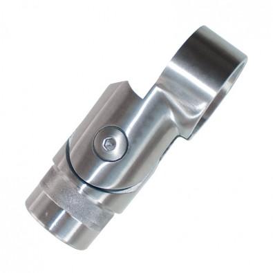 Départ de main courante inox avec collier de serrage pour tube 33,7 mm