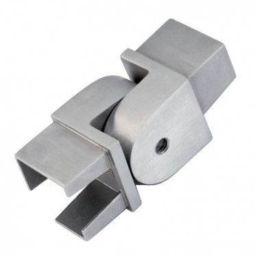 Coude orientable en inox 316 brossé section 40 x 40 mm