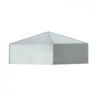 Chapeau décor de poteau 90 x 90 mm, pointe de diamant inox 316 brossé