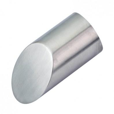 Terminaison en inox brossé design de main courante bois diamètre 45 mm