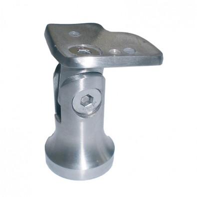 Support d'angle 42,4mm orientable poteau au choix inox 304 brossé