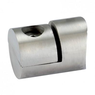 Pince à tôle cylindrique pour tube rond ø 48,3 mm en inox 304 brossé