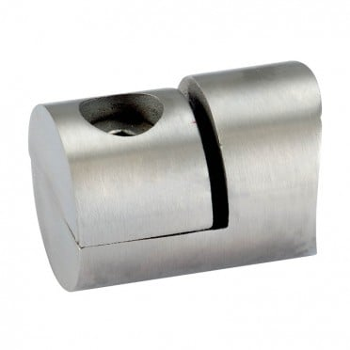 Pince à tôle cylindrique pour tube rond ø 48,3 mm en inox 316 brossé
