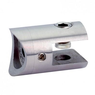 Pince cylindrique à verre pour support plat en inox 304 brossé