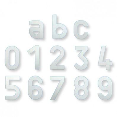 """Numéro de maison """"6"""" en inox 304 brossé, 150 x 90 mm"""