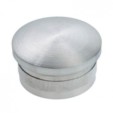 Bouchon moleté et bombé diamètre 33,7 mm en inox 304 brossé à frapper