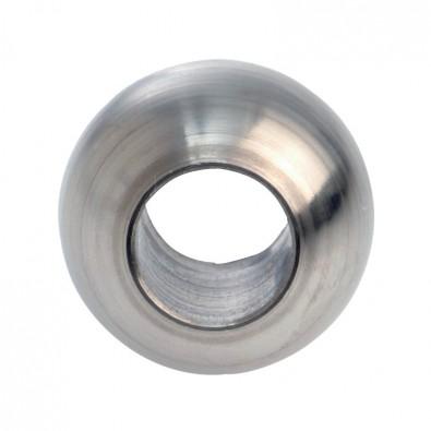 Bague ø 25 mm en inox 304 poli miroir, avec trou débouchant ø 14,2 mm